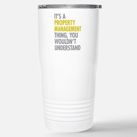 Property Management Stainless Steel Travel Mug