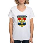 USS Belleau Wood (LHA 3) Women's V-Neck T-Shirt