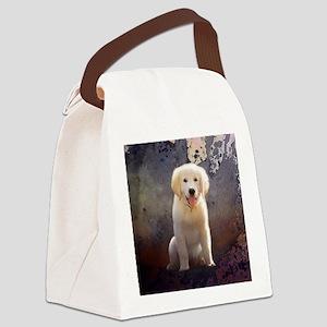 Golden Retriever Puppy Canvas Lunch Bag