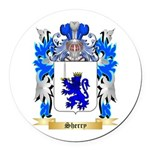 Sherry Round Car Magnet