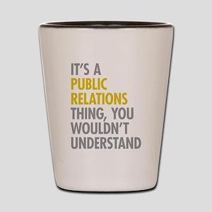 Public Relations Shot Glass