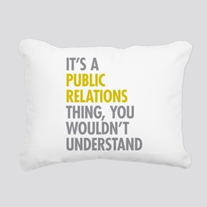 Public Relations Rectangular Canvas Pillow