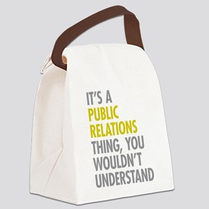 Public Relations Canvas Lunch Bag