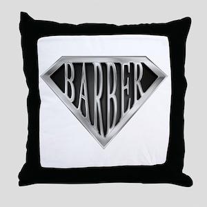 SuperBarber(metal) Throw Pillow