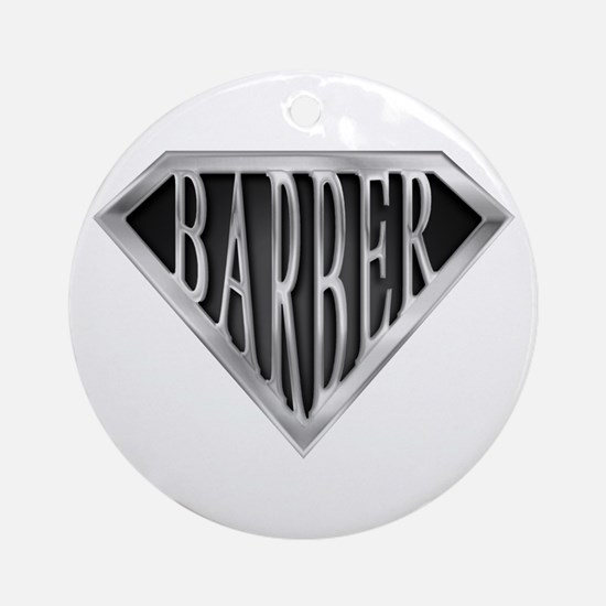 SuperBarber(metal) Ornament (Round)