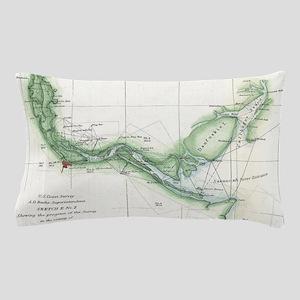 Vintage Map of The Savannah River (185 Pillow Case