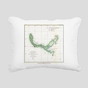 Vintage Map of The Savan Rectangular Canvas Pillow