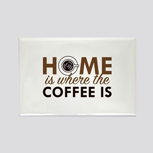 Home Is Where The Coffee Is Rectangle Magnet