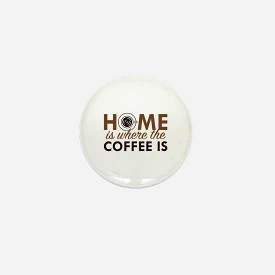 Home Is Where The Coffee Is Mini Button