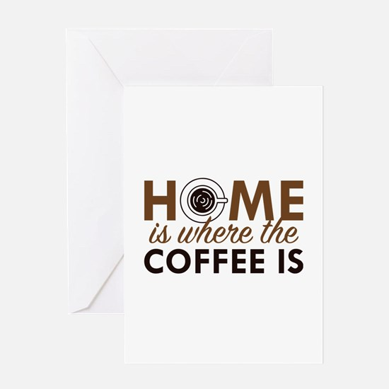 Home Is Where The Coffee Is Greeting Card