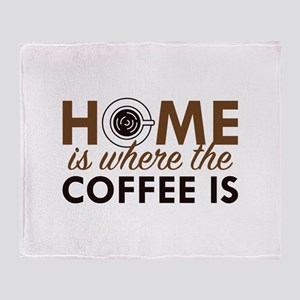 Home Is Where The Coffee Is Stadium Blanket