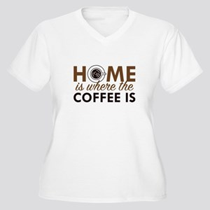 Home Is Where The Coffee Is Women's Plus Size V-Ne