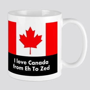 I love Canada from Eh to Zed Mugs