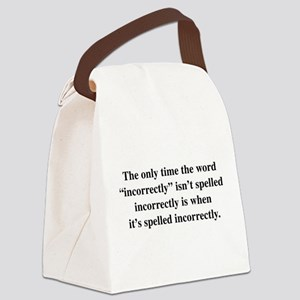 Incorrectly Paradox Canvas Lunch Bag
