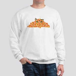Candy Corn Cat Sweatshirt