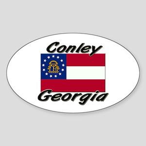Conley Georgia Oval Sticker