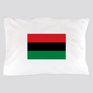 African American Flag - Red Black and Pillow Case