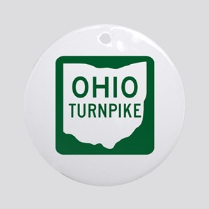 Ohio Turnpike Ornament (Round)