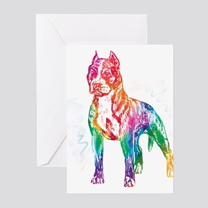 American Staffordshire Terrier Greeting Cards