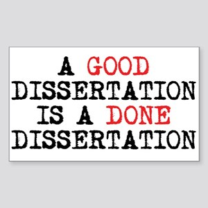 Dissertation Sticker (Rectangle)