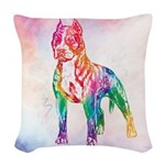 American Staffordshire Terrier Woven Throw Pillow