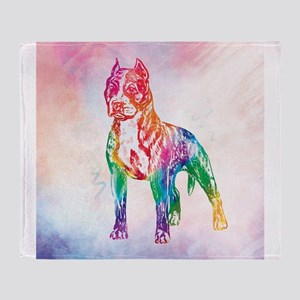American Staffordshire Terrier Throw Blanket