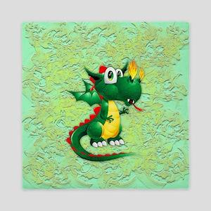 Baby Dragon Cute Cartoon Queen Duvet