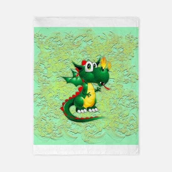 Baby Dragon Cute Cartoon Twin Duvet