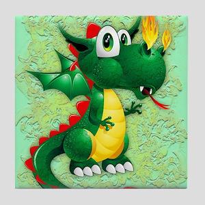 Baby Dragon Cute Cartoon Tile Coaster