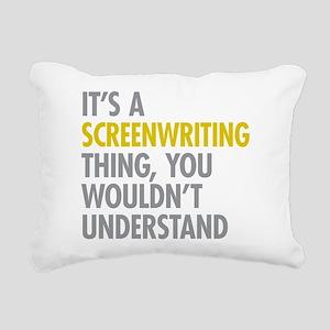 Screenwriting Rectangular Canvas Pillow