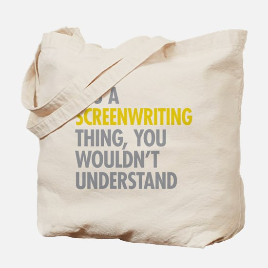 Screenwriting Tote Bag