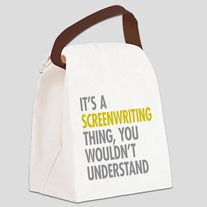 Screenwriting Canvas Lunch Bag