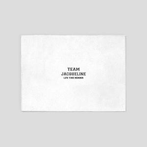 Team JACQUELINE, life time member 5'x7'Area Rug
