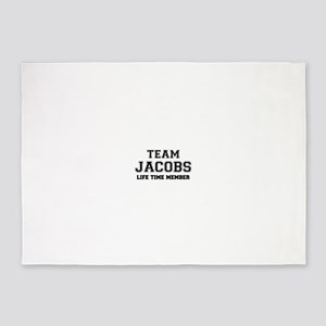 Team JACOBS, life time member 5'x7'Area Rug