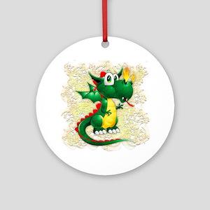 Baby Dragon Cute Cartoon Round Ornament