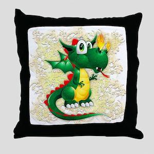 Baby Dragon Cute Cartoon Throw Pillow