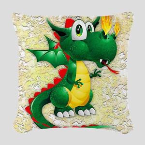 Baby Dragon Cute Cartoon Woven Throw Pillow