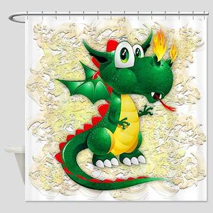Baby Dragon Cute Cartoon Shower Curtain