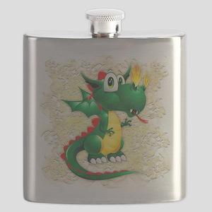 Baby Dragon Cute Cartoon Flask