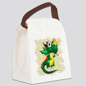Baby Dragon Cute Cartoon Canvas Lunch Bag