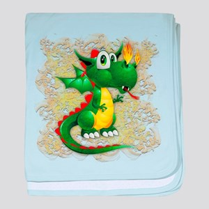 Baby Dragon Cute Cartoon baby blanket