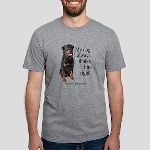 Rottie Vs Wife T-Shirt