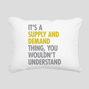 Supply And Demand Rectangular Canvas Pillow