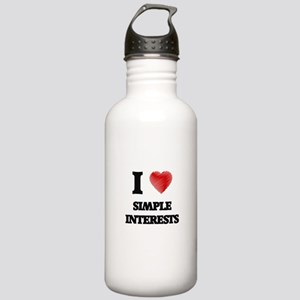 I Love Simple Interest Stainless Water Bottle 1.0L