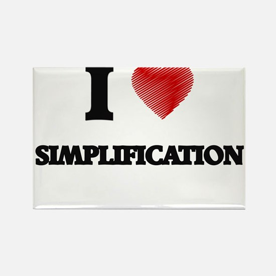 I Love Simplification Magnets