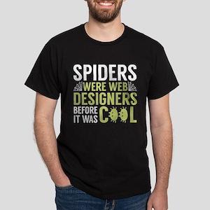 Spiders Were Web Designers Dark T-Shirt