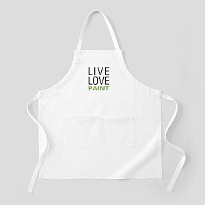 Live Love Paint BBQ Apron