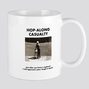Hop-Along Casualty - until my Knee's Replaced Mugs