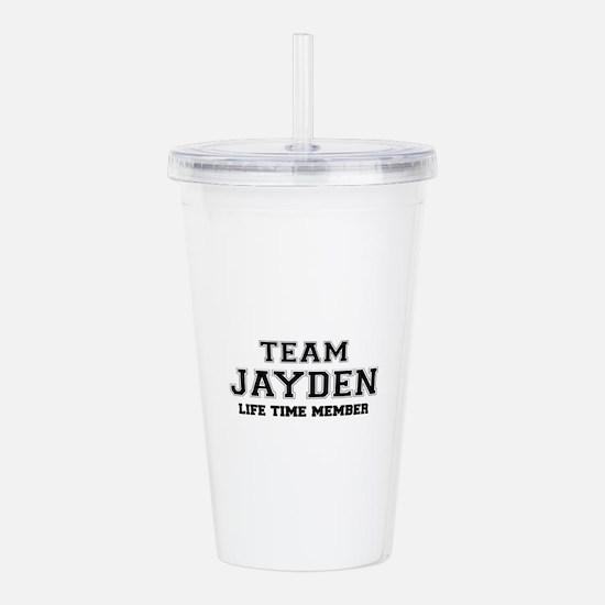 Team JAYDEN, life time Acrylic Double-wall Tumbler