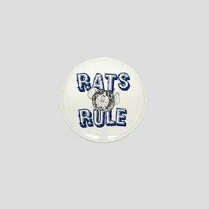 Rats Rule Mini Button
